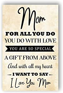 I Love You Mom Poster, Vintage Print, Home Décor, Family Print, Poster For Mother's Day, Wall Art, Mom Print, Happy Mother Day, Unframed Wall Art Prints Best Mom Ever