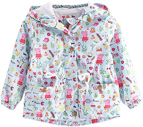 Quick Dry Lightweight Kids Baby Girls Fall Hooded Paige Coat Jacket-4-5T