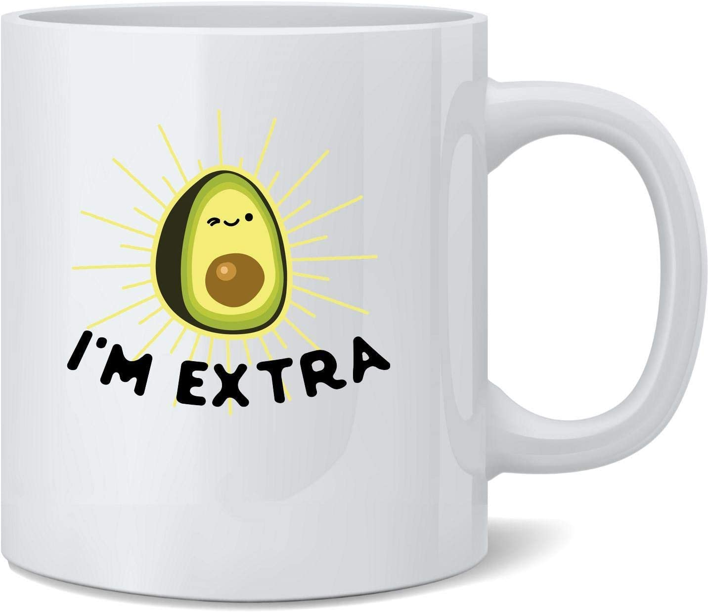 Poster Foundry Im Extra Avocado Guacamole Cute Funny Ceramic Coffee Mug Tea Cup Fun Novelty Gift 12 oz