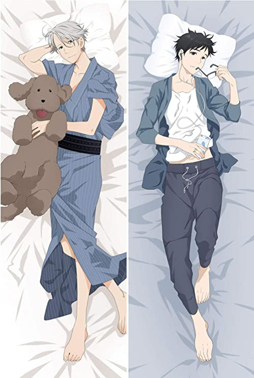 HOICHAN Anime Boys Yuri!!! on ICE Pillow Cover Dakimakura Pillowcase 3D Double-Sided Bedding Hugging Body Pillow Case Customize W50 x H150 cm