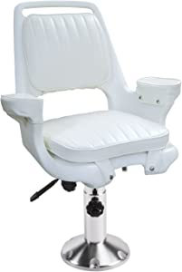 Wise 8WD1007-6-710 Captains Chair with Adjustable Height Pedestal and Seat Slide