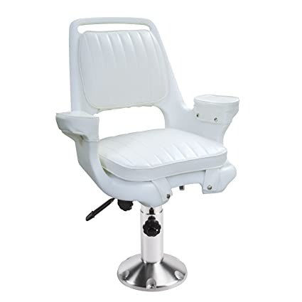 Captain Boat Seats >> Wise 8wd1007 6 710 Captains Chair With Adjustable Height Pedestal And Seat Slide