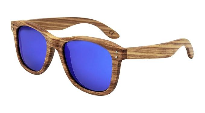 GoGou Männer u Frauen Bambus Horn umrandeten Sonnenbrille mit UV400 Protected verspiegelten Gläsern (Orange) iF7pT2Z