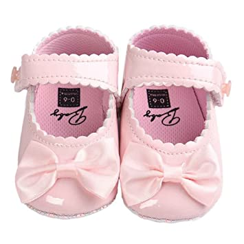 ec998768cefe8 Switchali Baby Girl Bowknot pu Leather Shoes Sneaker Anti-slip Soft Sole  Toddler Shoes (