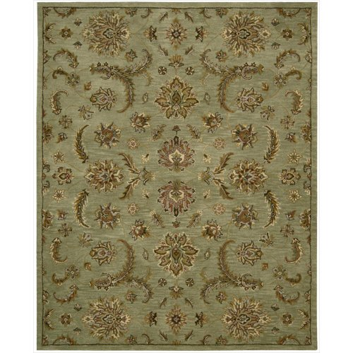 - Nourison India House (IH83) Light Green Rectangle Area Rug, 8-Feet by 10-Feet 6-Inches (8' x 10'6