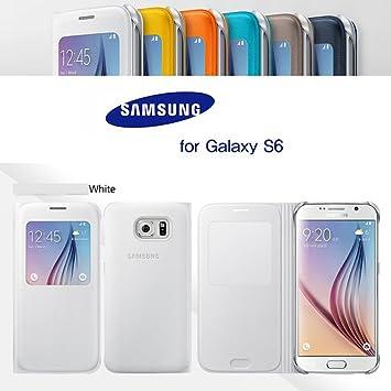 30ab0a7240 Galaxy S6 SC-05G ケース SAMSUNG 純正 S-View カバー ホワイト docomo ドコモ ギャラクシー