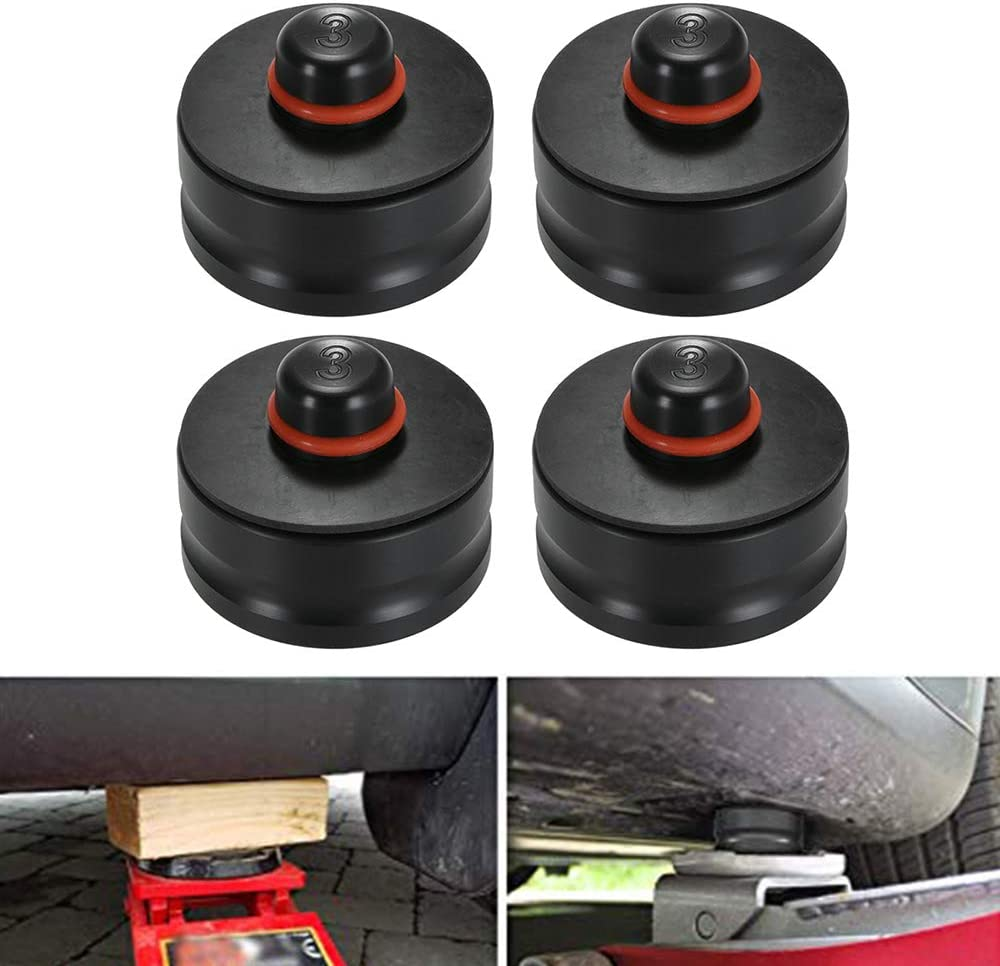 Carrfan Jack Lift Point Pad Adapter Jack Pad Tool Chassis Dedicated 4pcs for Tesla Model 3