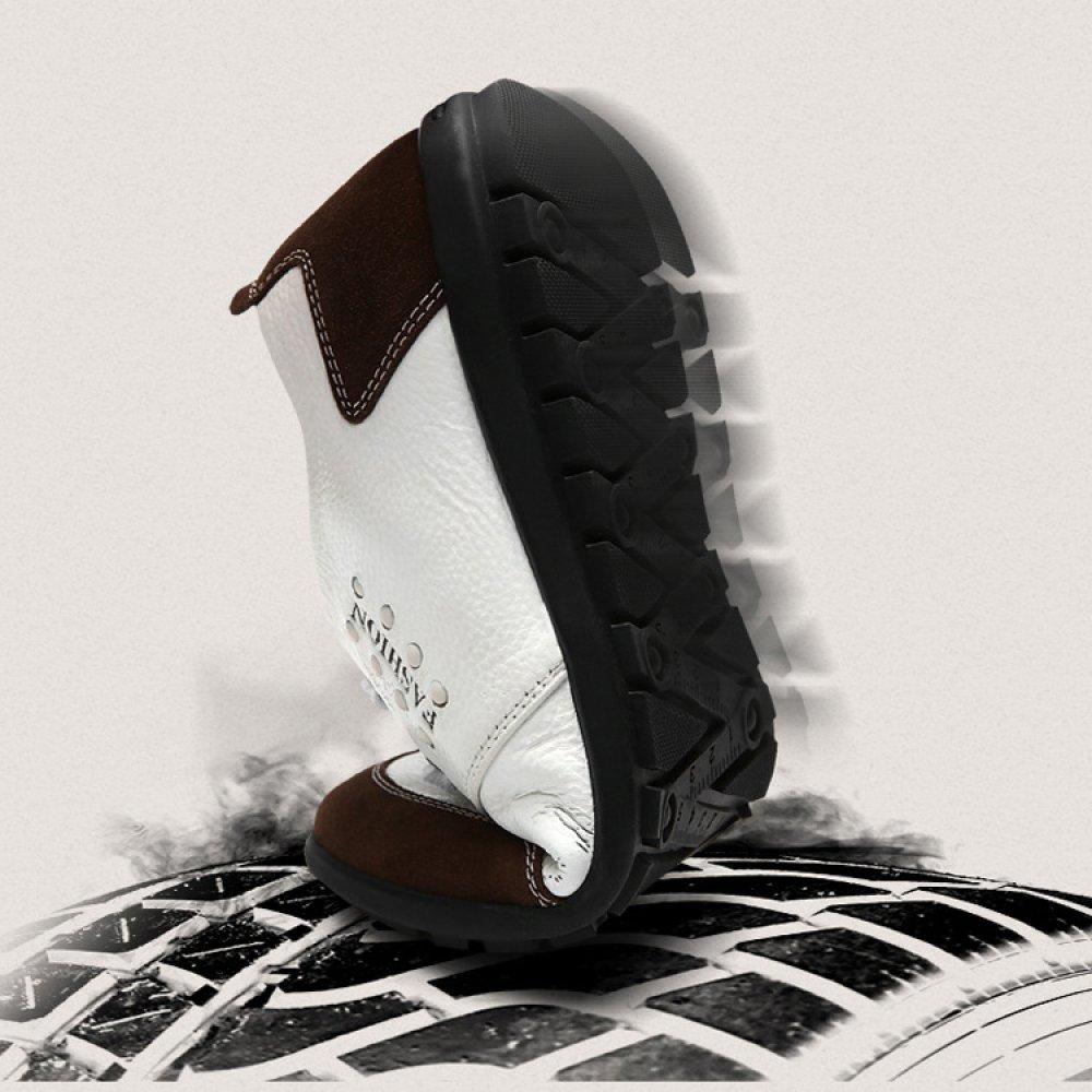 YXLONG La Primavera Primavera Primavera Y El Verano Nuevos Zapatos Casuales De Cuero De Los Hombres Zapatos De Fondo Suave Zapatos De Los Hombres Blancos De La Tendencia Zapatos Transpirables Zapatos Blancos,Negro-38 d16fcb