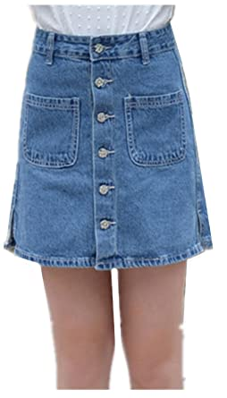 9cb634f5557 Skirt BL Women s High Waist A Line Stretch Denim Mini Short Jean ...