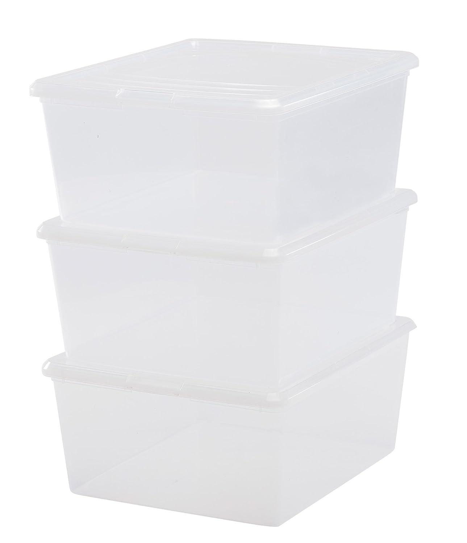 Amazon.com Clear Plastic Storage Box 21 Qt. - Set of 4 (Clear) Home u0026 Kitchen  sc 1 st  Amazon.com & Amazon.com: Clear Plastic Storage Box 21 Qt. - Set of 4 (Clear ...