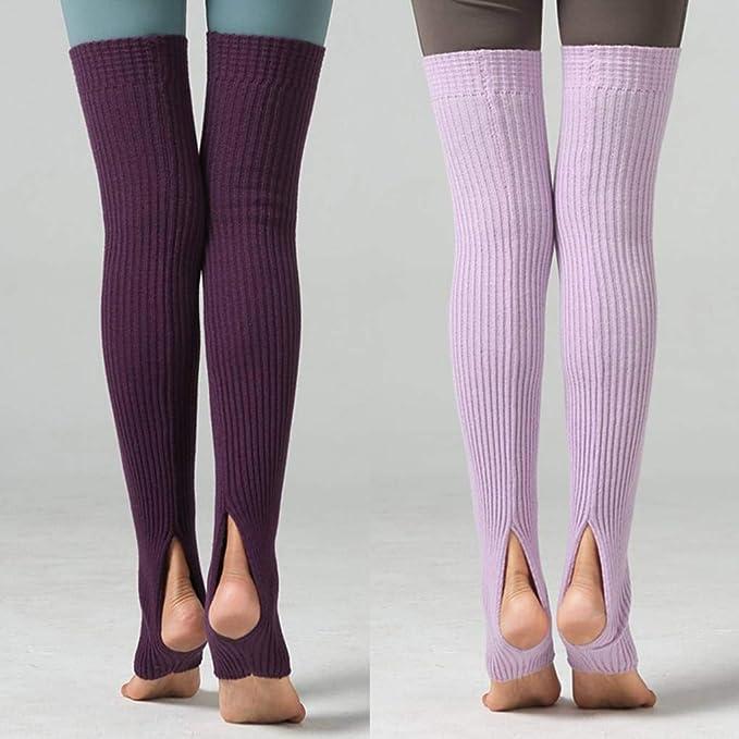 Diamoen 1 Coppia Donne Ragazze Leg Accessori Calze Lunghe Footless Calzini Inverno Autunno Danza Calze Yoga Ballet