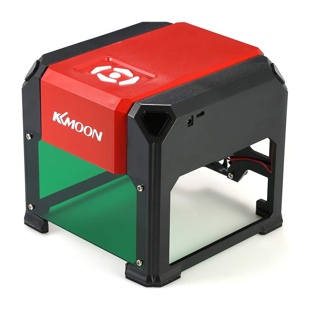 KKmoon 3000mW Mini Gravure Laser à Haute Vitesse, USB DIY Machine de Sculpture, Outils de Graveur avec 80 * 80mm Grande Zone de Gravure et Panneau pour Win XP/7/8/10, Mac 10.10 ou Supérieur Mac 10.10 ou Supérieur