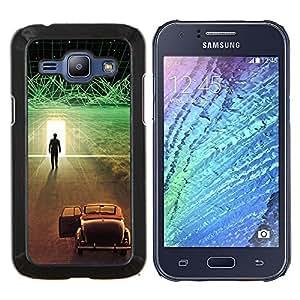 EJOOY---Cubierta de la caja de protección para la piel dura ** Samsung Galaxy J1 J100 ** --Futurista Ciber coche