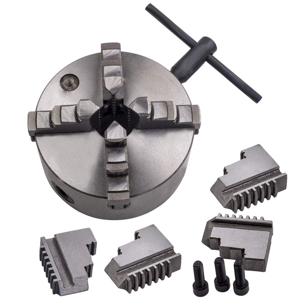 Tuningsworld Jaw 5'' K12-125 Lathe Chuck Self Centering Hardened Steel for Milling 125mm