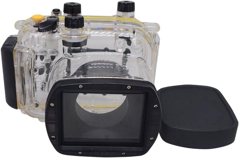 Mcoplus 40 metros/130 pies buceo resistente al agua carcasa caso bolsa de la cámara para Canon Powershot G11 G12: Amazon.es: Electrónica