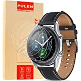 [4-Pack] PULEN for Samsung Galaxy Watch 3 45mm Screen Protector,HD Clear Bubble Free Anti-scratch 9H Hardness Tempered…