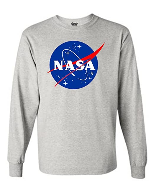 f5b9cfb4 Gardenia12 NASA Long Sleeve Shirt Meatball Logo Space Shuttle Rocket  Science Geek Tee | Amazon.com