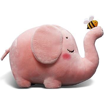 Amazon Com Adorable 9 Elephant Stuffed Animal Toys Cuddly Pink Bee