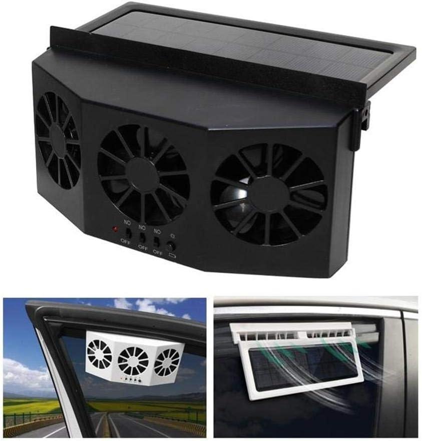 blue--net Solar Powered Car Window Windshield Auto Air Vent Fan Cooling Fan Ventilation Fan, Auto Ventilator System Exhaust Fan Vehicle Radiator Vent