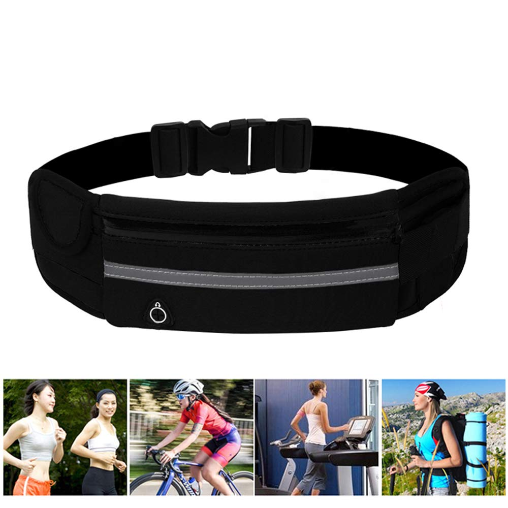 Sweat-proof Adjustable Elastic Strap and Headphone Hole Ideal foror Phone Cards Passports Cash and Keys,All Mobile Phones up to 6 Inch INHEMI Running Belt Waterproof Bumbags Fanny Packs