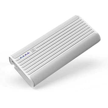 BONAI Power Bank 10000mAh, Bateria Externa para Movil Cargador Portatil, Salida Doble Puerto USB 2A - Blanco