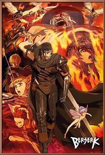 Amazoncom Berserk Framed Manga Anime Tv Show Poster Print