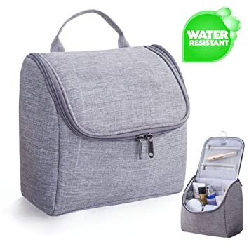 c77b446254 Toiletry Bag Hanging Travel Toiletries Cosmetic Bag make up bag with Handle  and Hook Travel Toiletry