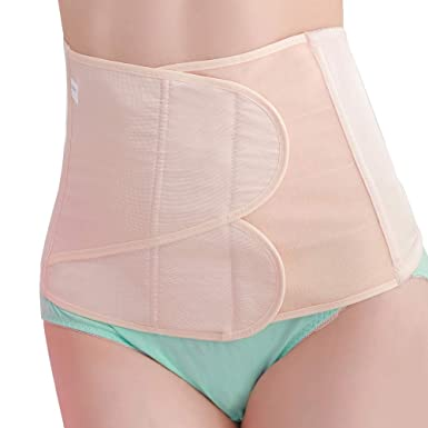 26b14d0c337 SEYO Postpartum Belly Band Abdomen Binder Maternity Support Wrap Girdle  Belt C Section Surgery (Beige)  Amazon.co.uk  Clothing