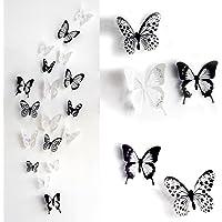 skyblue-uk 18 stickers Muraux de Papillons 2D Sticker Mural Autocollants bricolage papillon amovible R¨¦utilisable Pour chambre Salon (noir)