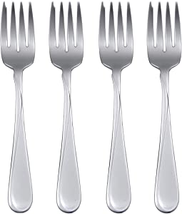 Oneida Flight Everyday Flatware Salad Forks, Set of 4