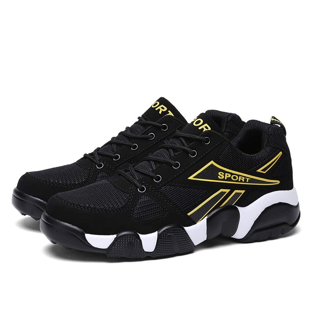 Qiusa Breathable laufende Schuhe der Männer beiläufige dauerhafte Nicht Beleg-Multi Sport-Schuhe im Freien (Farbe   Gelb, Größe   EU 41)