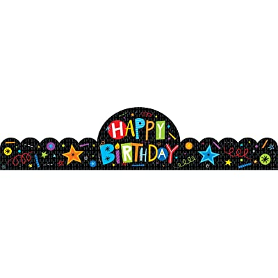 Creative Teaching Happy Birthday Crowns, Celebrating Birthdays! (30 Per Pack): Office Products