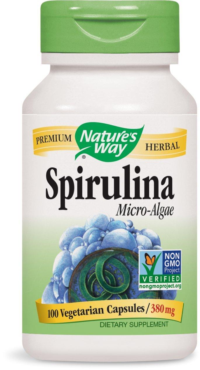 Nature's Way Spirulina, 100 Capsules (Pack of 2)