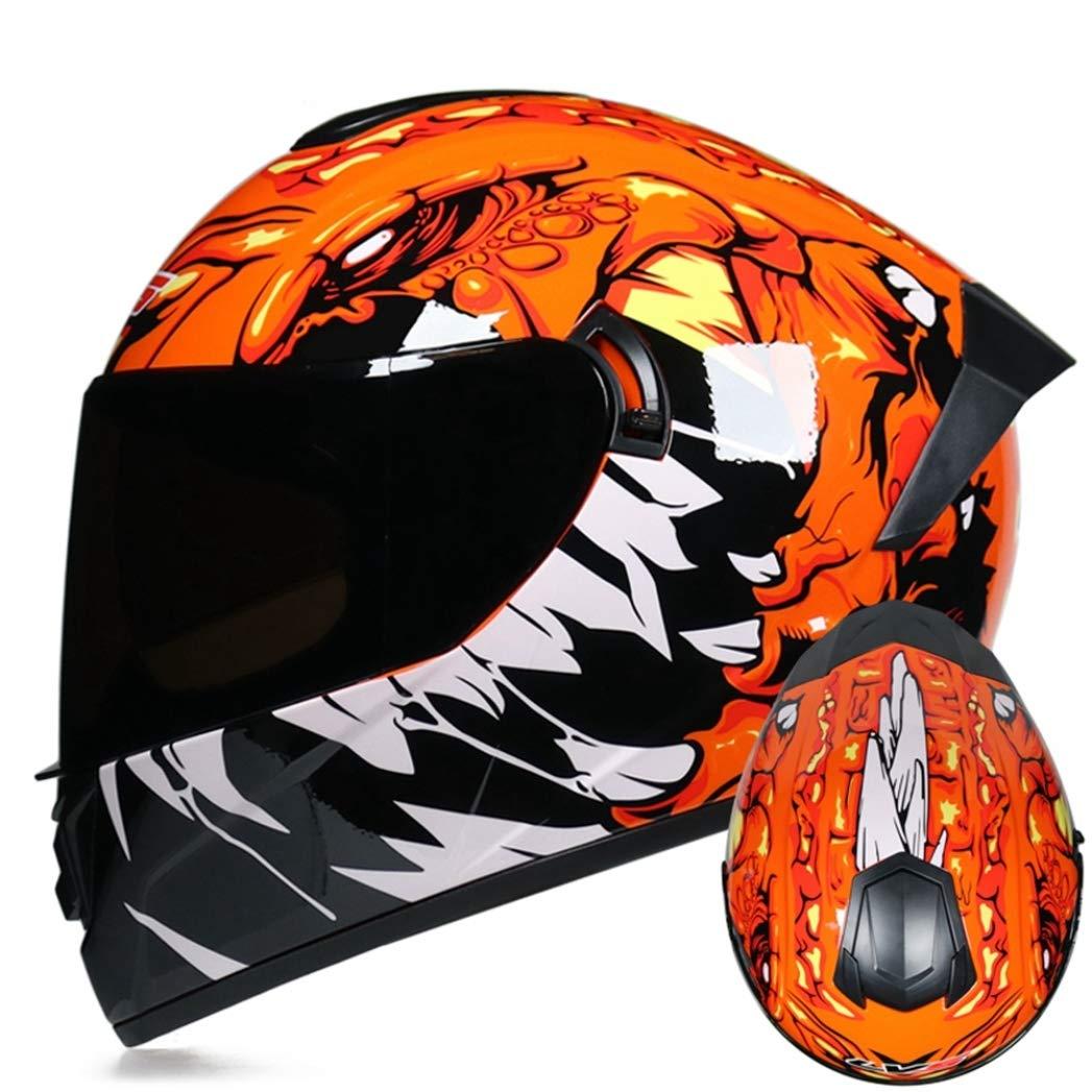 Casco Modular De Moto Crash Casco De Motocicleta De Carreras De Cara Completa con Visera para Adultos Hombres Mujeres Gorras De Protecci/ón De Carreras