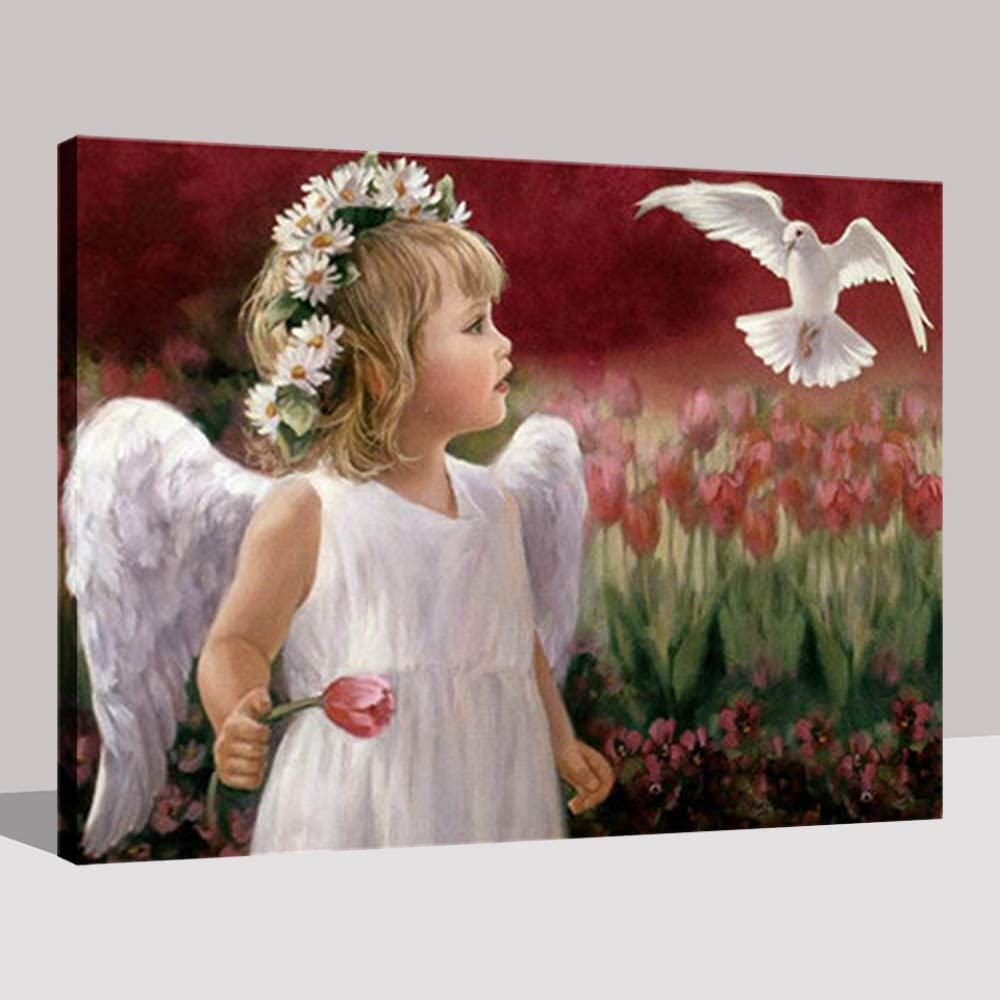 NIMCG DIY para Colorear imágenes por números Pintura al óleo ángel ...