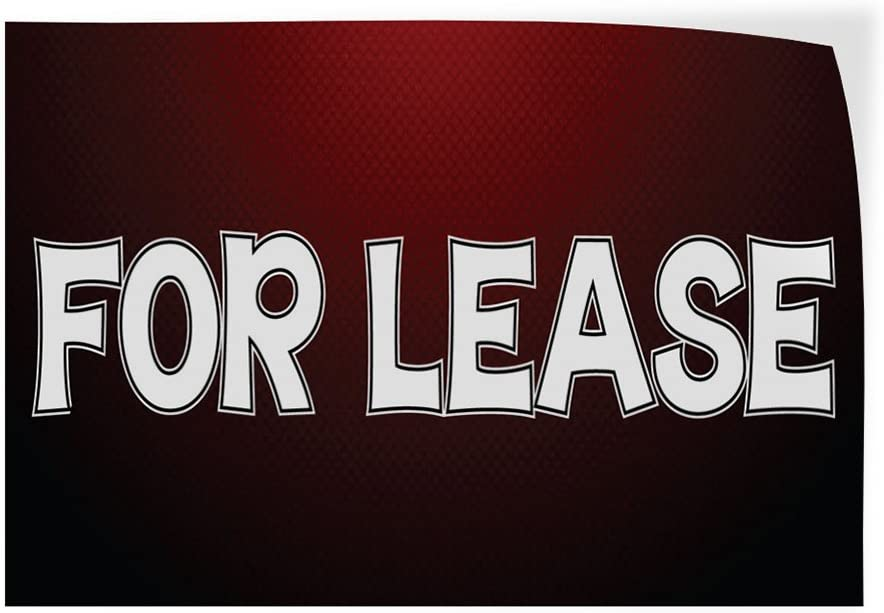 Set of 10 14inx10in Decal Sticker Multiple Sizes for Lease #6 Business Design Outdoor Store Sign red