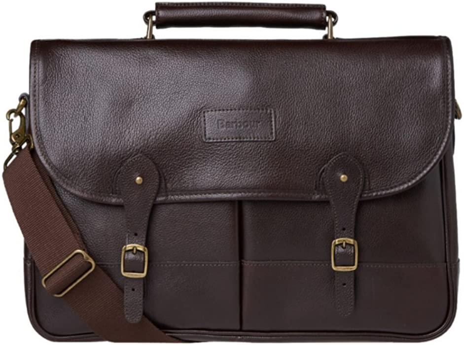 b885d4b920 Barbour Leather Briefcase - Chocolate
