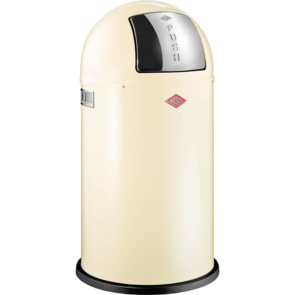 Wesco Pushboy 50 Litre Bin - Almond