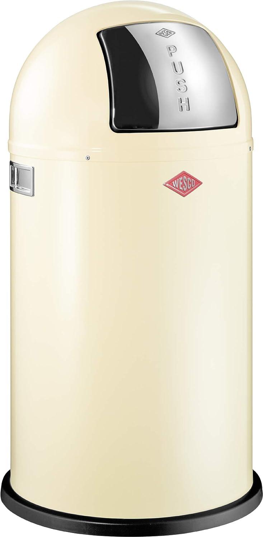 Wesco Mülleimer 50 Liter, creme-farbend | Mülltrennung mit Abfallguru