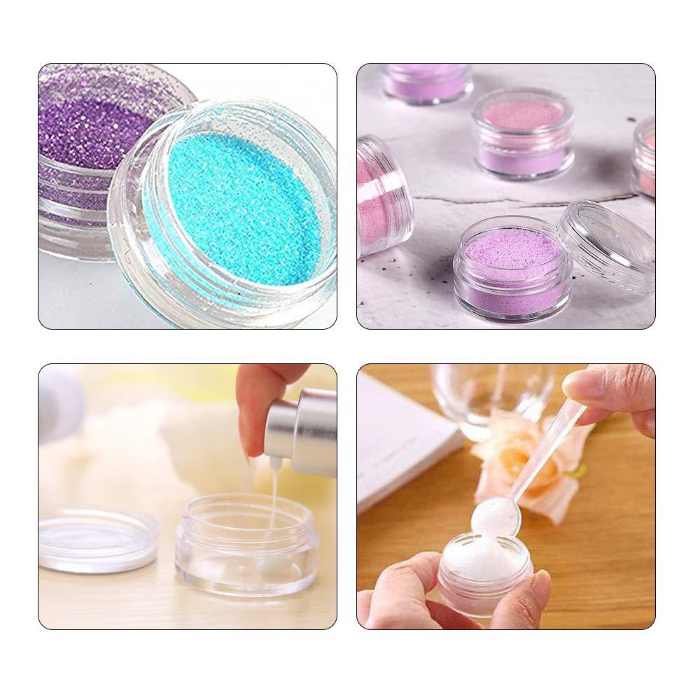Gobesty 50 PCS Tarros cosm/éticos vac/íos 5 ml Muestras de Viaje Ronda Clara con Tapas para Mujeres Cremas Muestras Almacenamiento de Maquillaje