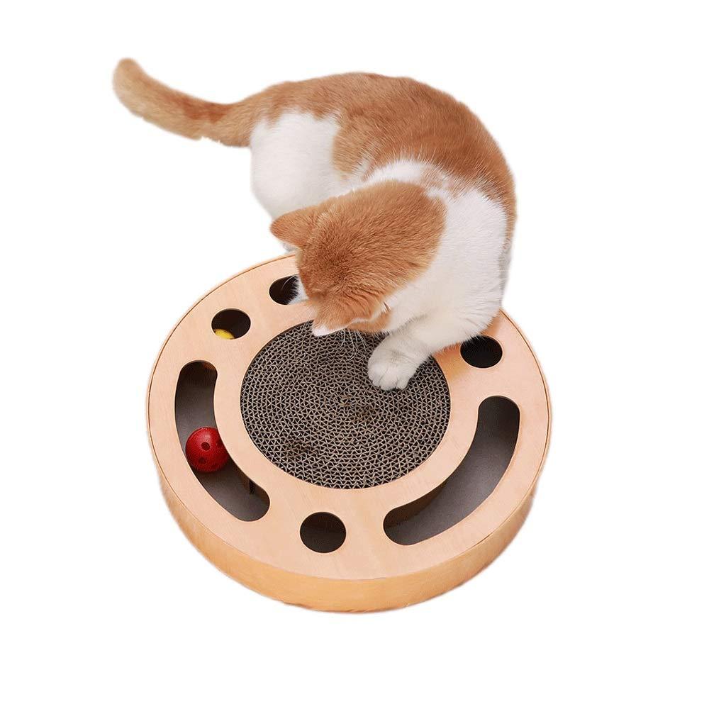 A Cat Scratch Board wear-Resistant Large cat Claw Board Toy Ball cat Toy cat Litter cat Scratch pad Multi-color Style (color   A)