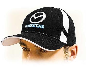 Mazda negro oscura tapas Mazda Logotipo gorros Nueva colección 2016 100% algodón Calidad: Amazon.es: Coche y moto