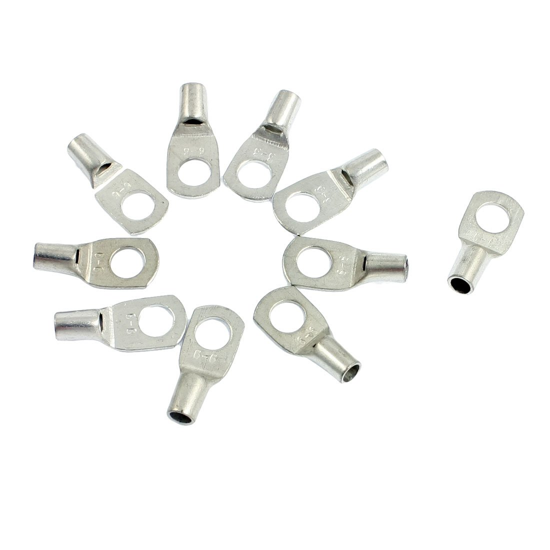 10 Pcs 5/32' Connecting Hole Copper Non Insulated Ring Terminal Connectors Sourcingmap a12080200ux0010