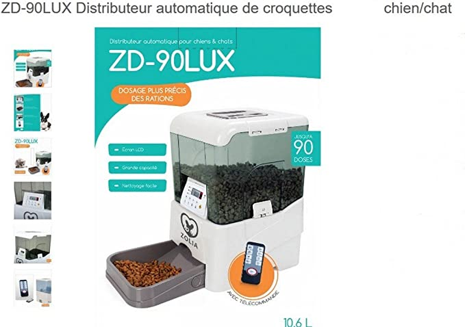 Dispensador de pienso automático Zolia zd-90 Lux: Amazon.es: Productos para mascotas