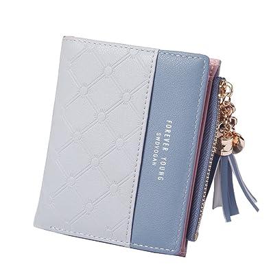 05aa361baf46 Amazon | [XMJE]財布 レディース 二つ折り ミニ財布, PUレザー小銭入れ ...
