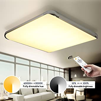 Kusun 50w led ceiling lights remote control2800k 6500k dimmable kusun 50w led ceiling lights remote control2800k 6500k dimmable flush mount ceiling lightsflush ceiling lights for living room bedroom mozeypictures