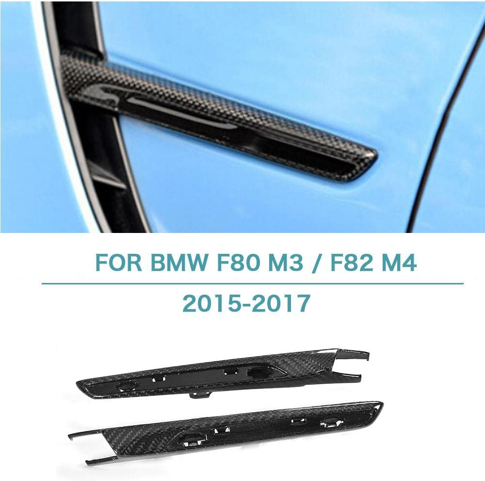 KKmoon for BMW M3 F80 M4 F82 2015-2018 Carbon Fiber Mirror Cover,1 Pair