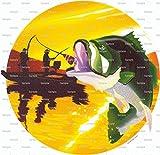 1/4 Sheet - Bass Fishing Birthday - Edible Cake/Cupcake Party Topper!!!