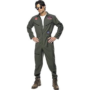 Disfraz de piloto estilo Top Gun traje aviador carnaval: Amazon.es: Juguetes y juegos