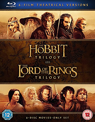 The Hobbit Trilogy and The Lord Of The Rings Trilogy, 6-Film Theatrical Versions (Blu-Ray)